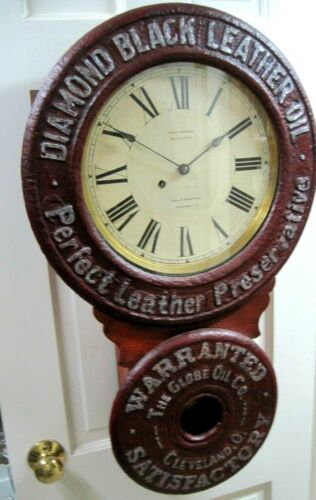 VINTAGE EDW. BAIRD ADVERTISING CLOCK, SETH THOMAS- A BEAUTY