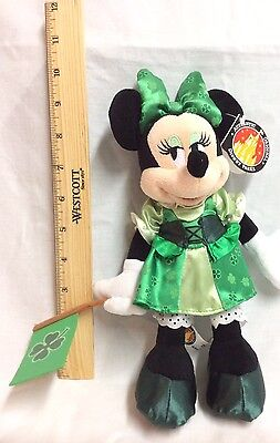"NWT Disney Parks Ireland MINNIE MOUSE IRISH GIRL 10"" Plush Stuffed Animal Doll"