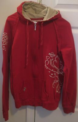 Hard Rock Cafe Cozumel Youth Hoodie Sweatshirt Size XL Red Red Youth Hoodie