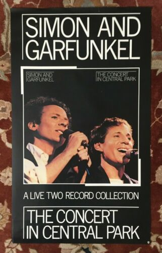 SIMON AND GARFUNKEL  Concert In Central Park  rare original promotional poster