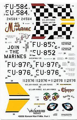 Blemished Warbird F-86 Sabre Decals 1/48, Mig Mad Marine, Darling - Mig Mad Marine