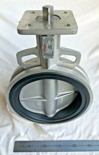 "FLOWSERVE Duplex Stainless Steel Wafer Butterfly Valve Size 200mm - 8"" NBR Seat"