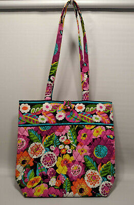 Vera Bradley Va Va Bloom Shoulder Bag Tote Toggle Closure  New