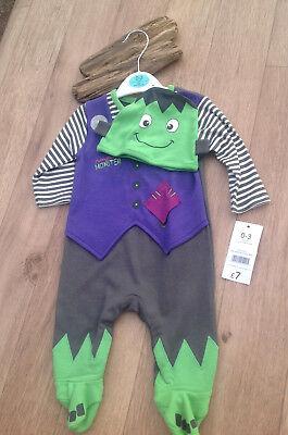 Mummy little Monster BABY0-3M BNWT outfit hat babygro set fancy dress halloween