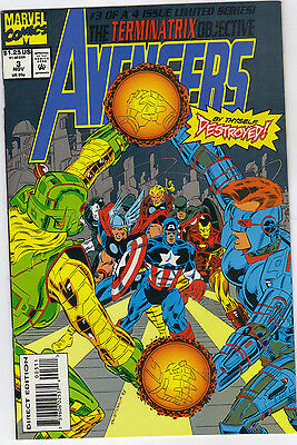 "Marvel's Avengers ""The Terminatrix Objective"" issues 2 & 3.  Oct/ Nov 1993."