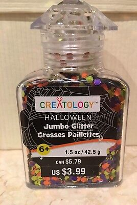 Halloween Jumbo Glitter by Creatology 1.5 oz  Multi Purple/Orange /Green New  - Creatology Halloween