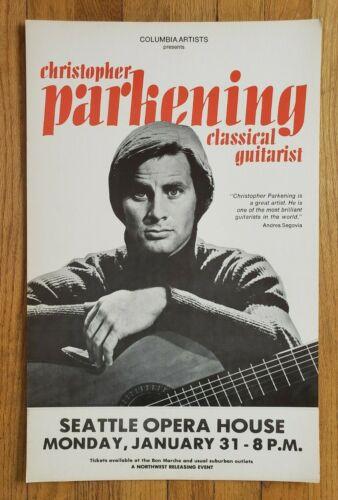 Original (1974) CHRISTOPHER PARKENING classical guitar Concert cardboard POSTER