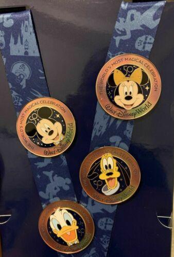 Disney Parks 50th Anniversary Celebration Starter Set of 4 Pins NEW