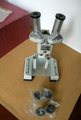Spi Southern Precision Stereo Microscope Model 1846 Rare - 5x 10x 15x Lenses