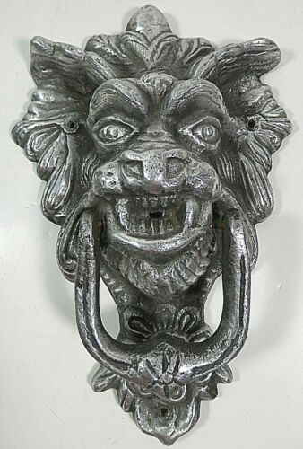 Antique Vintage Cast Iron Gothic Dragon Door Knocker