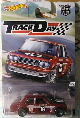 HOT WHEELS 1/64 CAR CULTURE TRACK DAY DATSUN BLUEBIRD 510 NEW Free Shipping