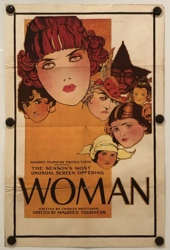 WOMAN Original One Sheet Movie Poster - 1918 - SILENT FILM - VERY RARE!