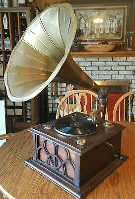VICTROLA? Gramophone PHONOGRAPH Morning Glory Tulip Horn TALKING MACHINE Needles