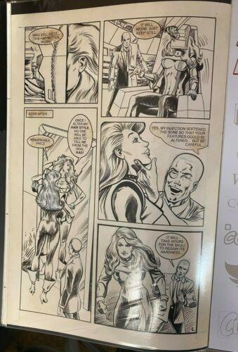 FEMFORCE PAGE #2 ORIGINAL ART PAGE 11 x 17 #oa-1212