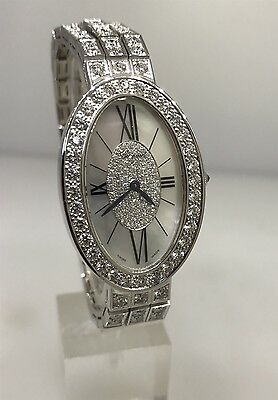 CHOPARD LES CLASSIQUE WHITE GOLD LADIES WATCH WITH OVER 10 CARATS OF DIAMONDS