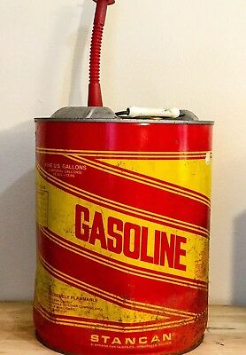 Vintage Stan Can 5 Gallon Metal Gas Can