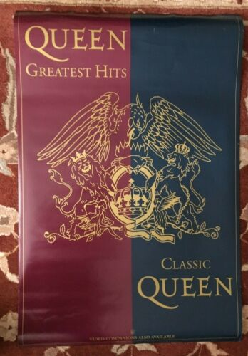 QUEEN  Greatest Hits rare original promotional poster from 1992  FREDDIE MERCURY