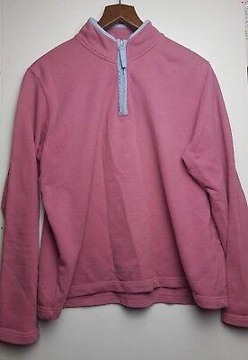 Outdoor-half Zip Pullover (Orvis Women's Pink Gym Outdoor Half Zip Pullover Top  Size M)