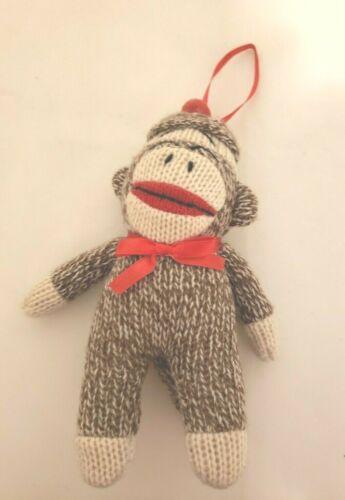 """Sock Monkey Christmas Holiday Plush Decoration 6.5"""" Stocking  Toy  2549"""