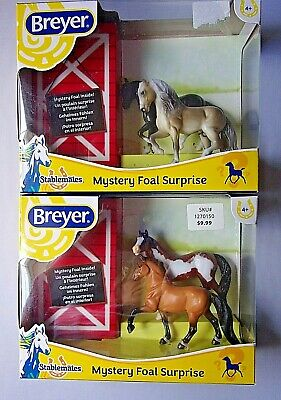 Breyer Stablemates Mystery Foal Surprise Horses #5442 Set of 2 2019 Collection