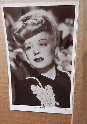 Picturegoer  Film star postcard W252 Betty hutton   unposted  .