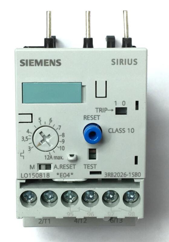 Siemens 3RB20261SBO Overload Relay