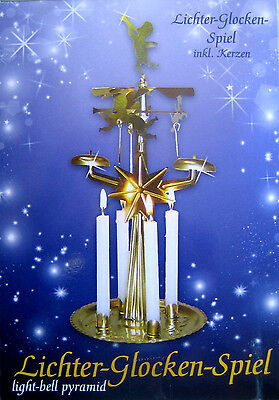 Klingelpyramide (ähnlich DDR) Pyramide Lichter Glocken Spiel mit Kerzen