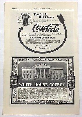 1900's Original 1908 Print Ad Coca Cola 5 Cent Chemist No Alkaloid Cocaine Coke