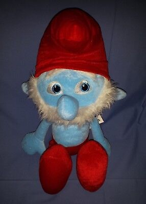 "2013 Peyo Smurfs Papa Smurf Plush 18"" Official Movie Merchandise Kellytoy"