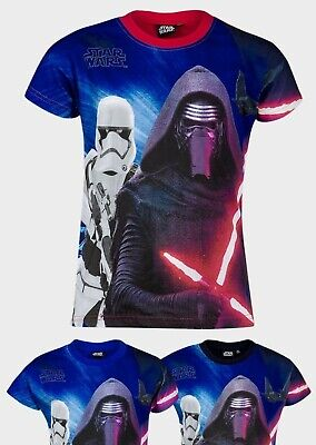 Boys Star Wars T-shirt Kids Short Sleeve 100% Cotton Disney Top Ages 6 to 12 yrs