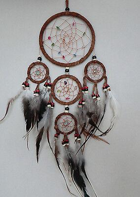12 cm x 40 cm Braun Leder Dreamcatcher Traumfänger Indianer Geburtstag Kinder
