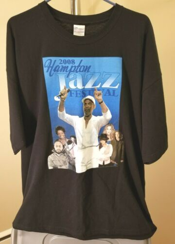 Hampton Jazz Festival Classic Black 2008 Hampton Jazz Festival 2XL T-Shirt