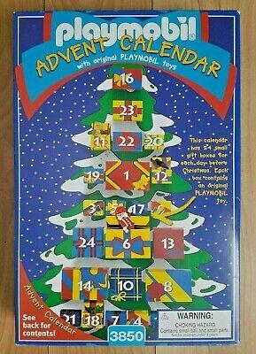 Playmobil Christmas Calendar Advent 3850 tree Santa & Animal Figures box - NEW