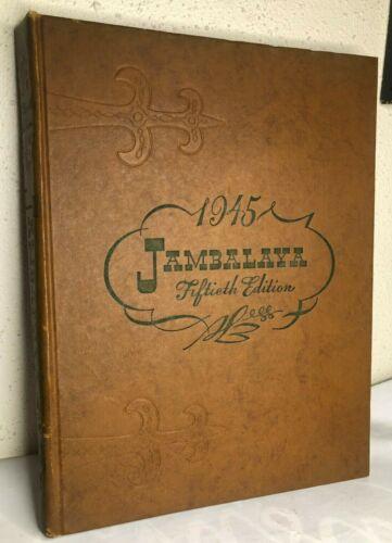 1945 TULANE UNIVERSITY Yearbook JAMBALAYA New Orleans Louisiana WWII WW2 Annual