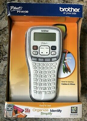 New In Box Brother Pt-h100 Label Maker P-touch Electronic Tze Tape