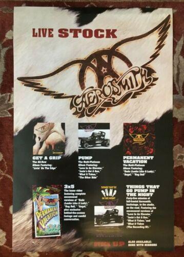AEROSMITH  Get A Grip  rare original 2-sided promo poster from 1993