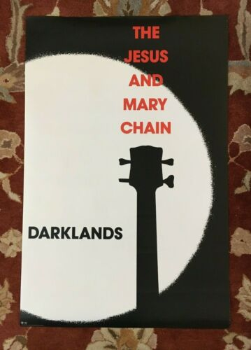 THE JESUS AND MARY CHAIN  Darklands  rare original promotional poster