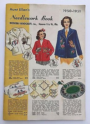 1950-1951 Aunt Ellen's Needlework Book Catalog ~ Great Graphics with Prices