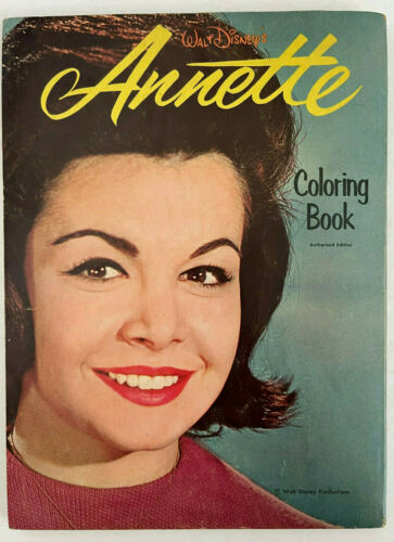 Vintage Disney ANNETTE FUNICELLO COLORING BOOK 1964 *  FREE SHIPPING