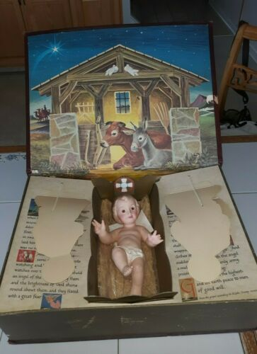 VINTAGE IDEAL THE MOST WONDERFUL STORY NATIVITY SET W/ BABY $44.99