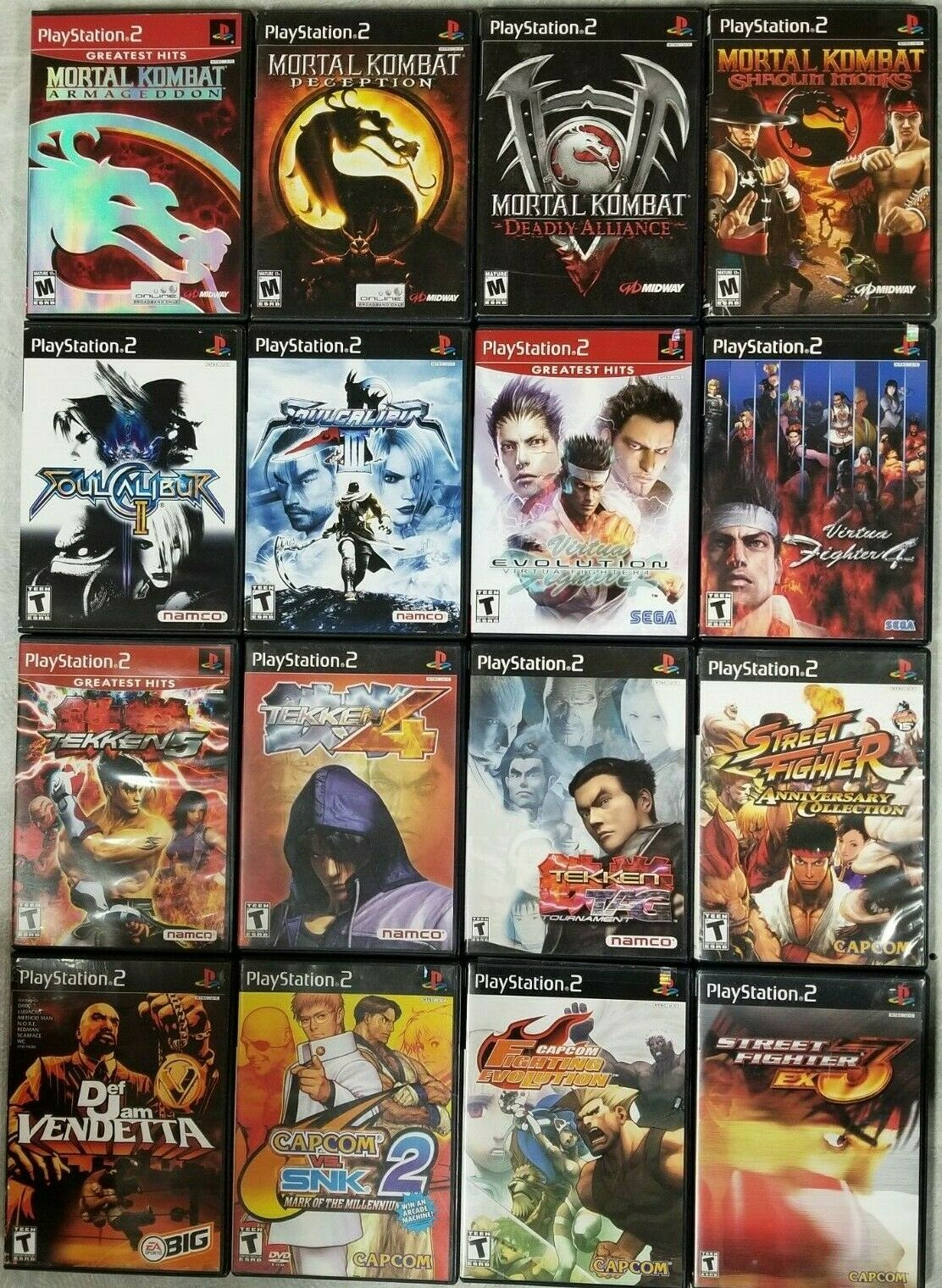 Fighting Games (Playstation 2) PS2 Tested