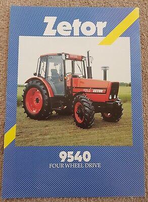 ZETOR 9540 TRACTOR SALES BROCHURE  na sprzedaż  Wysyłka do Poland