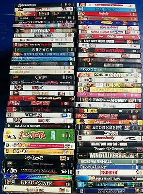 Huge Bulk Lot of DVDs All Genres Quantity 80