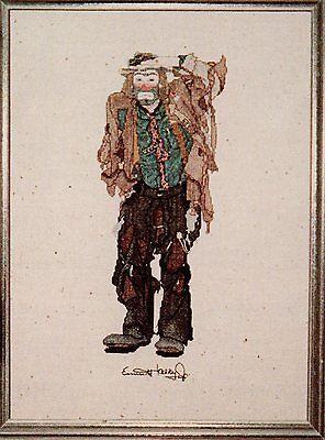 Clown Vagabond Emmett Kelly Series Cross Stitch KIT - Circus, used for sale  Eastbourne