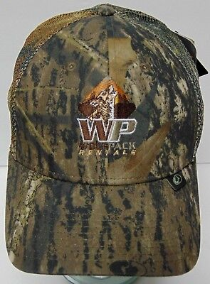 New Tags Wolf Pack Rentals Energy Services Oil Oilfield Camo Camouflage Hat Cap