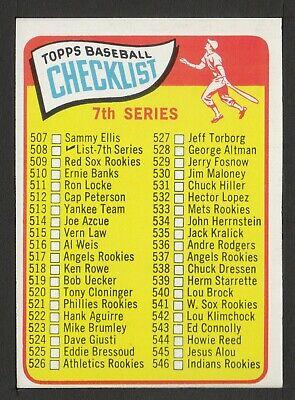 1965 Topps #508 Checklist 507-598  ex-mt