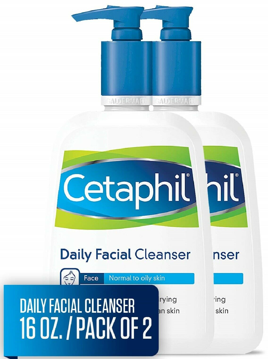 Cetaphil Facial Cleanser, Daily Face Wash for Normal to Oily