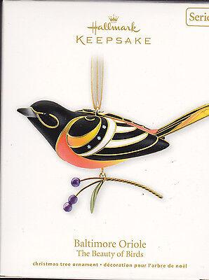 2011 Hallmark Baltimore Oriole Beauty of the Birds Series Ornament NIB NEW