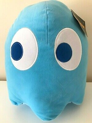 """Giant Light Blue Ghost Pac-Man 12"""" Plush . New. Licensed Toy. Soft.Jumbo Large"""