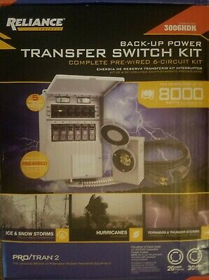 Reliance Controls 30 Amp 250-volt 7500-watt Non-fuse 6-circuit Transfer Switch